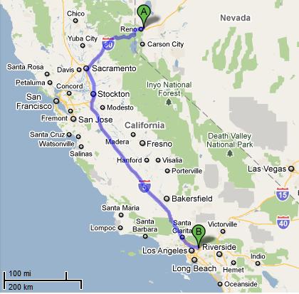 Non-Ontrac shipment map 2010-12-29