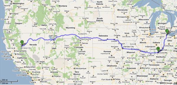 Ontrac shipment map 2010-12-29