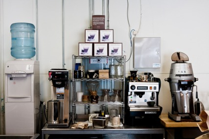 More machines inside PERC Coffee