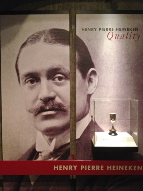 A display for Henry Pierre Heineken