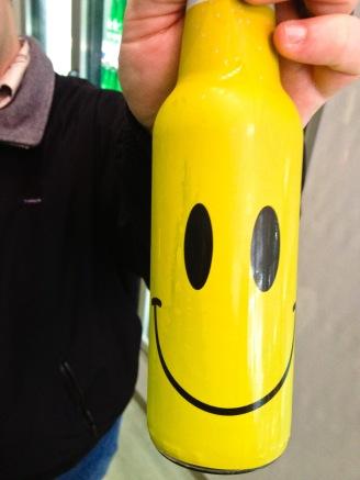 A happy Heineken bottle