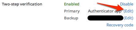 Dropbox 2-step verification