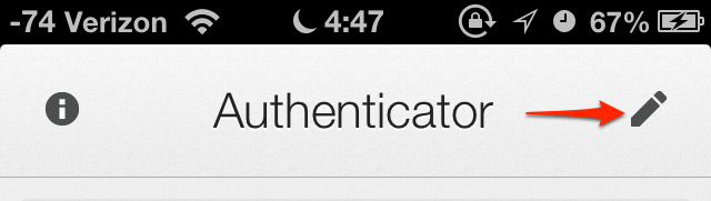 Google Authenticator 2.0.1 - Edit Step 1